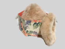 "Vintage Pink Fox Fur Pillbox Hat And Muff 1950""s W/ Hatbox Dress up Costume"