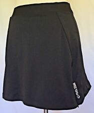Pearl Izumi Mini Skirt Womens Large L Black Stretch Athletic Dual Zipper Unlined