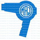 Custom Hair Dryer Monogram Decal Your Initials 3 Letters Cosmetology Beautician photo