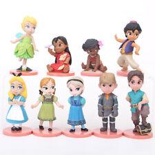 1 Set 9 Disney Princess Prince Knight Figures Cake Car Ornament Toy Decor 6-10cm
