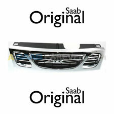 NEW SAAB 9-3 FRONT GRILLE Trim Chrome BUMPER GENUINE OEM 1999-2003 4677894