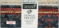 "Timeless Treasures Tonga Treats - Sophisticate - (40) 10""  Squares Batik Fabric"