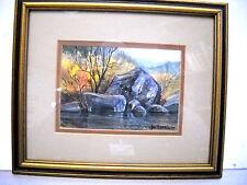 "Joe Morris Original Watercolor ""Autumn Gold"" Framed"
