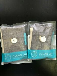 2X Clear Air Eco- Friendly Bamboo Charcoal Air Purifying Bag-Rechargeable