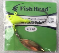 Sworming Hornet Fish Head Spin - 3/8 oz. Chartreuse