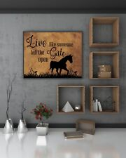 16 x 20 Live Like Someone Left the Gate Open Canvas Print