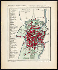Antique Map-NETHERLANDS-CITY PLAN-HAARLEM-NOORD HOLLAND-Kuyper-Kuijper-1865