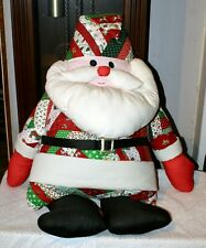 Very Fun Hand Crafted Patchwork Santa Claus