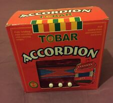 """Tobar Red """"Midget"""" Accordion - Boxed With Instructions - Very Rare"""