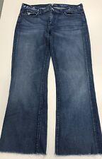 7 For All Mankind High Waist Bootcut 32 (36x29) unhemmed Jeans