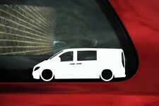 2x LOW Mercedes Vito Long Dualiner LWB ( W639 ) Lowered van outline Stickers