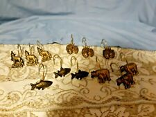 SHOWER CURTAIN HOOKS WILDLIFE LOT OF 12