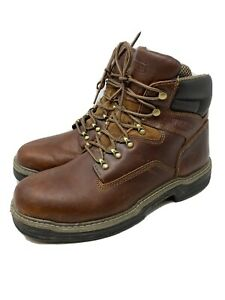 Wolverine Mens Contour Welt Leather Work Boots Brown Size 12