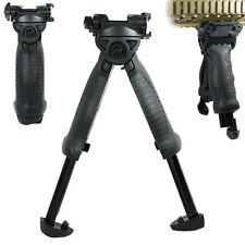 Tactical 40 Degree Swivel Foldable Foregrip Rifle Bipod 20mm Rail Mount - QR