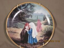 """Precious Moments Collector plate """"Where you go, I will go"""" w/metal hanging frame"""