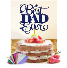Fathers Day cake topper Best Dad Ever Daddy Grandad glitter decoration Father's