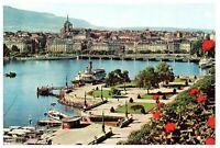 Geneva Quai du Mont Blanc et La Rade Switzerland Postcard
