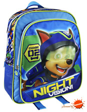 Paw Patrol Boys Backpack with CHASE School Backpack Trip Backpack NIGHT VISION