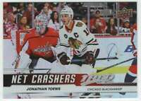 2019-20 Upper Deck MVP Hockey Net Crashers #NC-10 Jonathan Toews Blackhawks