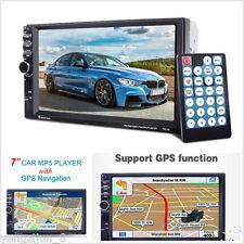 "7"" Hd 2 Din In-dash Car Gps Navigation Car Bluetooth Stereo Mp5 Player Fm Radio"