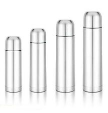 NEW STAINLESS STEEL BULLET VACUUM THERMOS FLASK HOT&COLD - 350/500/750/1000ML