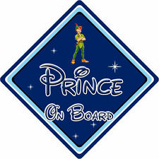 Disney Prince On Board Car Sign - Baby On Board - Peter Pan DB