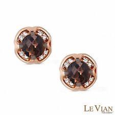 Liquidation SALE / NEW / Levian / Diamonds & Chocolate Topaz Earrings / 14K