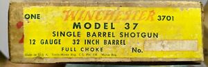 Vintage 1936-1959 Winchester 12 Gauge Model 37 Box Only w/papers (tags)