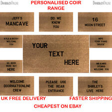 Personalised Coir Doormat 40x70cm Custom Gift Wedding House Presents Floor mat