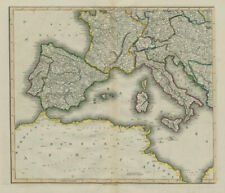 South-west Europe. Iberia France Italy Austria Mediterranean. LIZARS 1842 map
