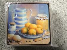 Six coasters by Lifestyle Collections brand new boxed