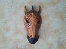 Schöne Zebra Holz Maske Afrika Wandmaske Handarbeit Bali