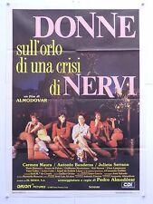 DONNE SULL'ORLO DI UNA CRISI DI NERVI commedia Almodovar manifesto orig. 1988