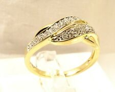 Beautiful 19 Diamond 10 K Yellow Gold JWBR Kay Jewelers Sz 7 Anniversary Ring