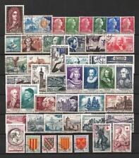 France année complète 1955 Yvert n° 1008 à 1049 oblitérés 1er choix