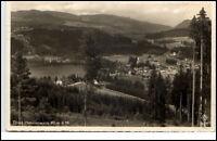 Titisee Schwarzwald alte Postkarte 1938 gelaufen Gesamtansicht Blick ins Tal