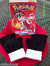 POKEMON RED Trainer Gloves  - Fingerless -  Cosplay costume - Pikachu