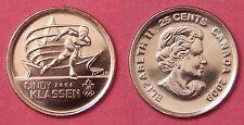 Brilliant Uncirculated 2009 Canada Cindy Klassen Plain 25 Cents From Mint's Roll
