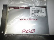 PORSCHE  968 OWNERS MANUAL BRAND NEW GENUINE PORSCHE - 1992 ONLY- YES BRAND NEW