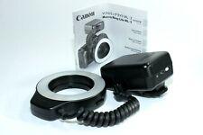 Canon Flash Macro Ring Lite ML-3 in scatola con le istruzioni. testato.