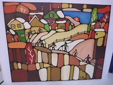 Canada  Québec painting by Roxane St-Cyr 1970's style landscape