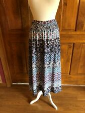Studio 253 Blue and Pink Geometric Print Midi Skirt 2X
