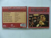 CD ALBUM ARCHIE SHEPP CHET BAKER QUINTET In memory of CDLR 45006