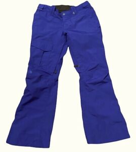 The North Face Hyvent Snowboard Pants Women's Size L Purple Cargo Pocket EUC
