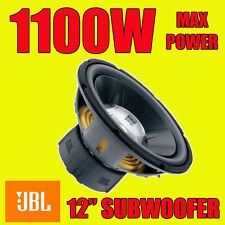 "JBL 12"" pollici 1100w subwoofer audio per auto Driver BASS gt5 SPL SUB WOOFER NUOVO"