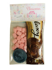 Unicorn Galaxy Hot Chocolate, Marshmallows & Unicorn Coin Chocolate Gift Set