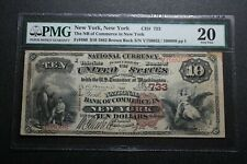 1882 $10 New York, NY  National Bank Note Fr. 480 PMG 20 (06012)