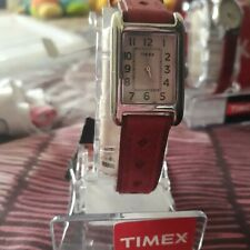 Timex Weekender Ladies Watch-Red Rectangle Face