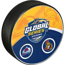 2017 SAP NHL Global Series Dueling Hockey Puck Colorado Avalanche vs Ottawa
