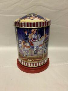 Weiss Musical  Carousel Tin Empty